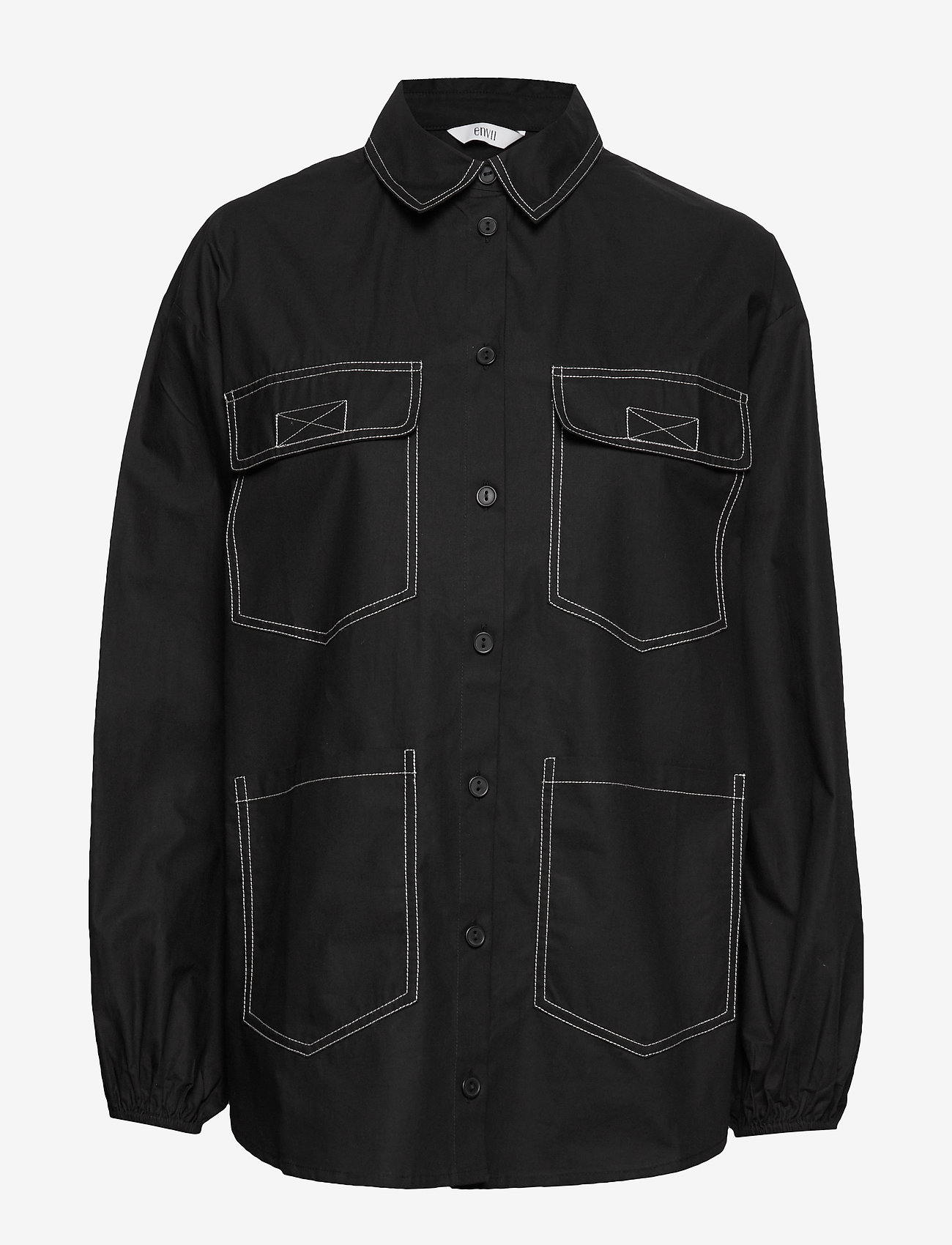 Envii Entopaz Ls Shirt 6691 - Chemisier & Chemises Black