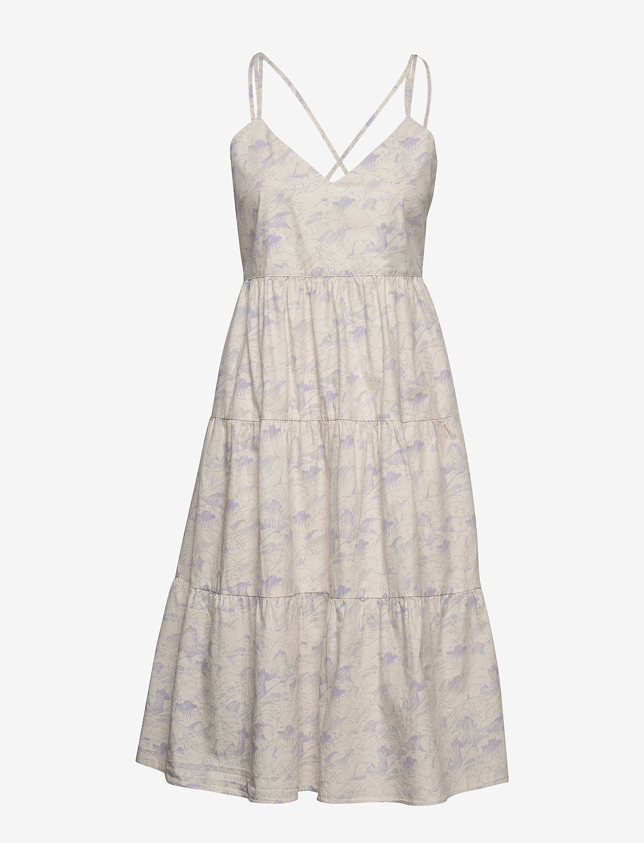 Enkaren Sl Dress Aop 6731 (Wave Aop) (585 kr) - Envii