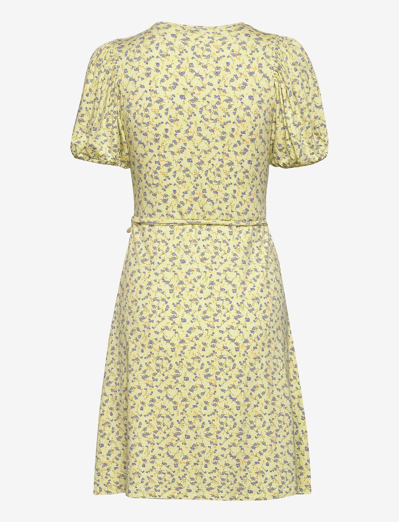 Enmanon Ss V-n Dress Aop 5329 (Summer Grass) - Envii Jq4PFF