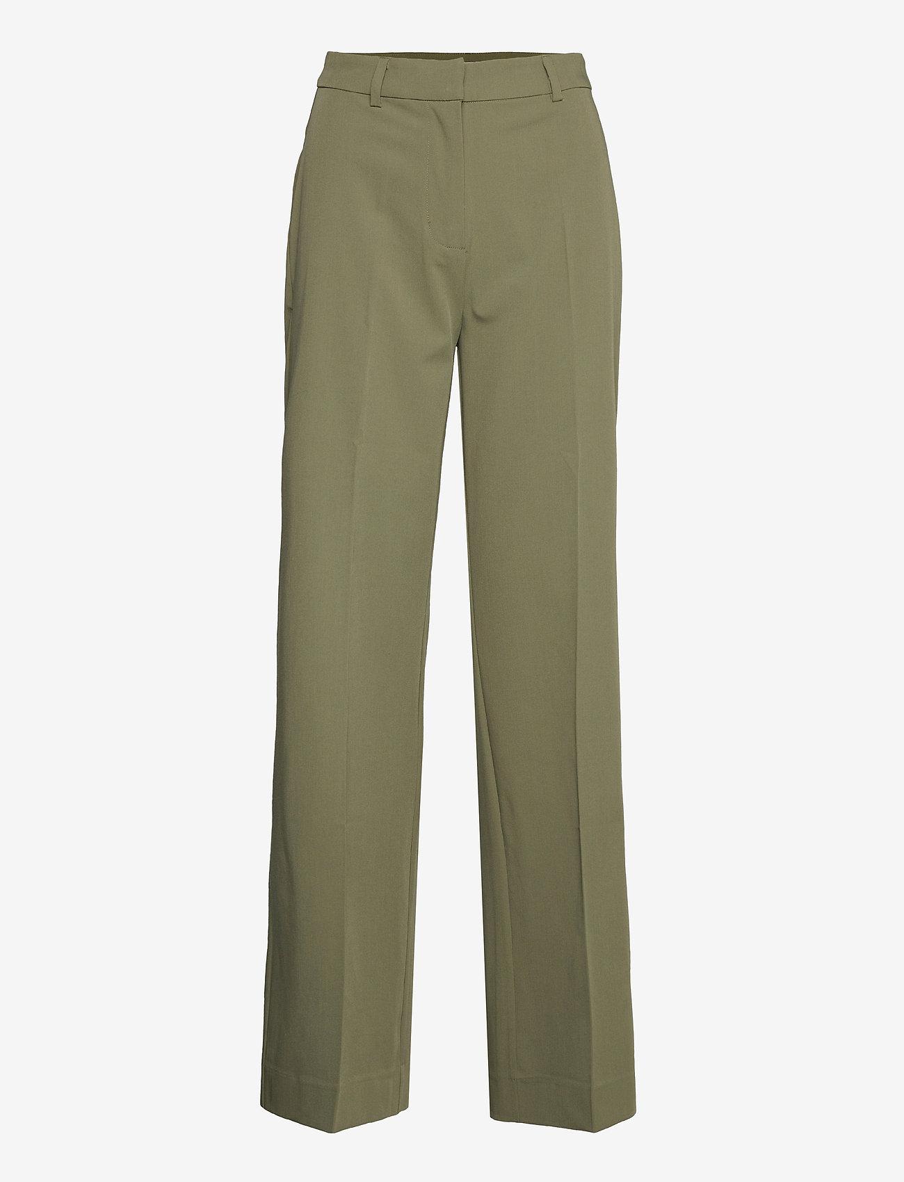 Envii - ENSMITH PANTS 6745 - bukser med brede ben - deep lichen green - 0