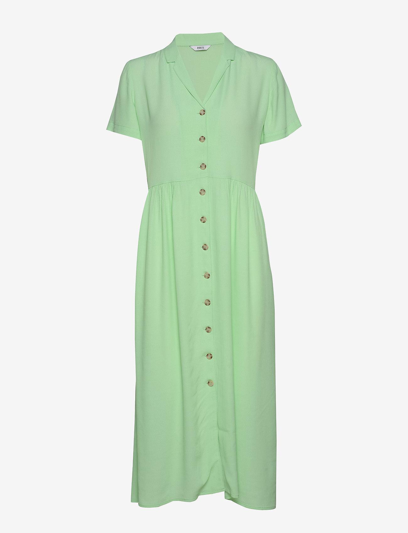 Envii ENNAPLES SS DRESS 6696 - Sukienki GREEN ASH - Kobiety Odzież.