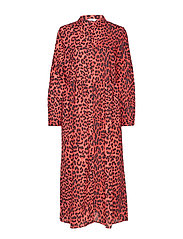 ENHARRY LS MAXI DRESS AOP 6629 - SCARLET LEO