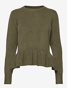 ENJUPITER LS KNIT 5178 - OLIVE NIGHT MEL
