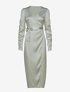 ENBIANCA LS DRESS 6613 - CHAMPAGNE SHINE