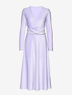 ENLUMI LS DRESS 5316 - VIOLET GLITTER