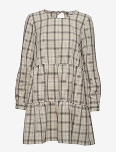 ENHARRY LS O-N DRESS 6628 - ROYAL CHECK