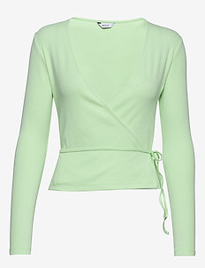 ENALLY LS V-N TEE 5314 - GREEN ASH