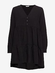 ENTEAK LS V-N DRESS 6660 - BLACK