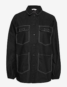 ENTOPAZ LS SHIRT 6691 - langärmlige hemden - black