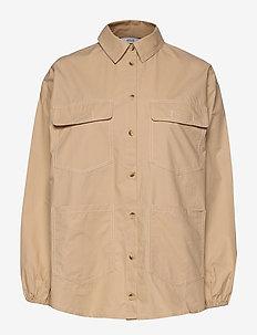ENTOPAZ LS SHIRT 6691 - langärmlige hemden - doeskin