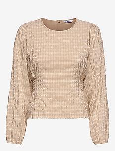 ENCULLINAN LS TOP 6690 - langärmlige blusen - doeskin check