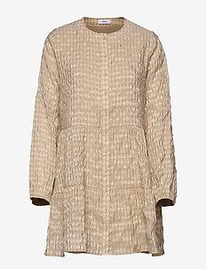 ENCULLINAN LS SHORT DRESS 6690 - DOESKIN CHECK