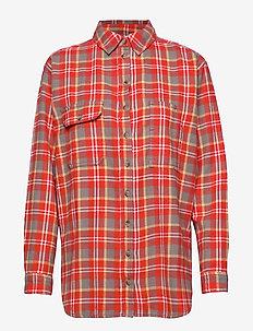 ENABSTRACT LS SHIRT 6710 - langärmlige hemden - tigerlily check