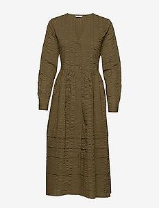 ENYELLOW LS DRESS 6698 - CAPERS