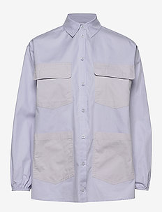 ENTOPAZ LS SHIRT 6709 - langärmlige hemden - icelandic blue