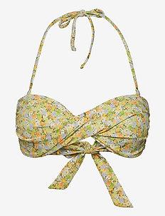 ENSALMON SWIM BRA AOP 5782 - bikinitoppar - wateredge flower