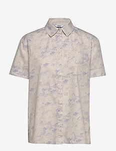 ENSHANE SS SHIRT AOP 6731 - kortærmede skjorter - wave aop