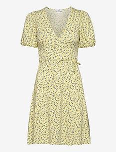 ENMANON SS V-N DRESS AOP 5329 - wrap dresses - summer grass