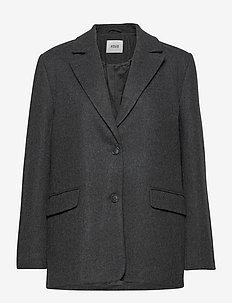 ENCOVENT JACKET 6649 - wełniane kurtki - dark grey mel.