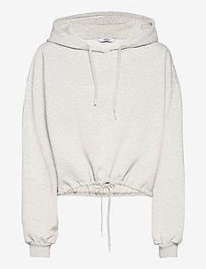 ENMONROE LS HOODIE 5346 - hoodies - light grey mel.