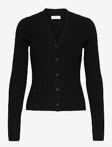 ENEGE LS CARDIGAN 5239 - cardigans - black