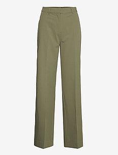 ENSMITH PANTS 6745 - bukser med brede ben - deep lichen green