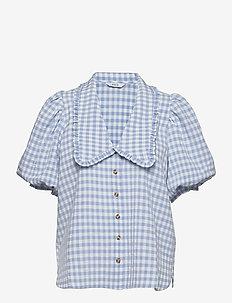 ENAPRIL SHIRT 6842 - kortærmede skjorter - sky blue check