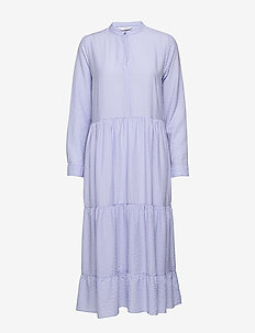 ENCITRUS LS MAXI DRESS 6680 - LAVENDER CHECK