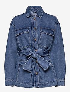 ENDOSSI BLAZER 6667 - vestes en jean - 90s mid blue