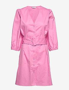 ENDENA 3/4 DRESS 6712 - FUCHSIA PINK
