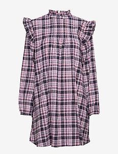 ENDONNA LS DRESS 6713 - DONNA CHECK