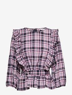 ENDONNA 3/4 TOP 6713 - langärmlige blusen - donna check