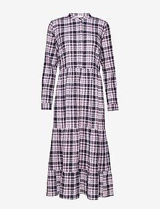 ENMAGIC LS MAXI DRESS 6713 - DONNA CHECK
