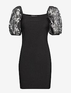 ENDANNY 3/4 DRESS 6714 - BLACK