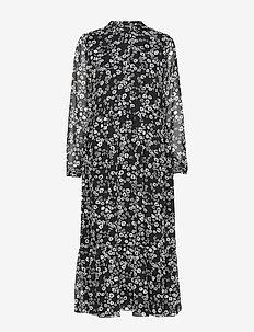ENDALIA LS LONG DRESS AOP 6687 - NIGHT FALL