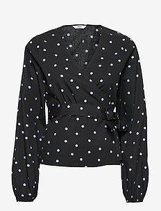 ENEMERALD TOP AOP 6818 - blouses à manches longues - lavender dot