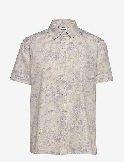 Envii Enshane Ss Shirt Aop 6731- Blusen & Hemden Wave