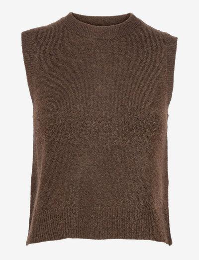 ENBOBO WEST 5242 - knitted vests - slate black mel