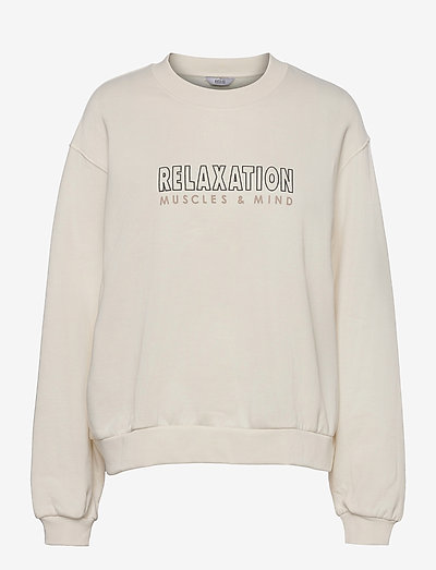 ENMONROE LS SWEAT PRINT 5304 - sweatshirts en hoodies - relax cream