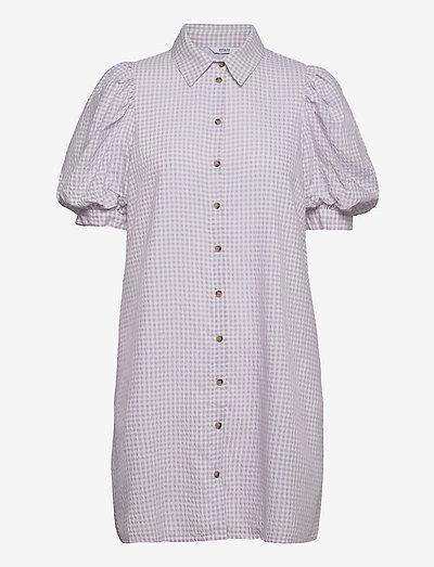 ENGULDBERG SS DRESS 6824 - sommerkjoler - violette check