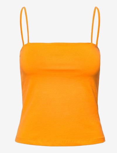 ENNAHLA SL TOP 5355 - ermeløse bluser - cadmium yellow