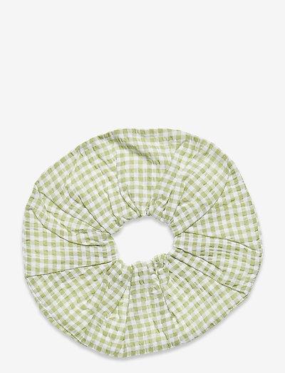 ENDAPHNE SCRUNCHIE 6824 - scrunchies - green check