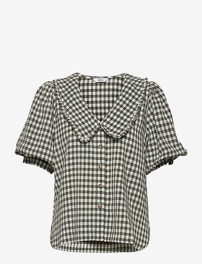 ENAPRIL SHIRT 6842 - kortermede skjorter - army check