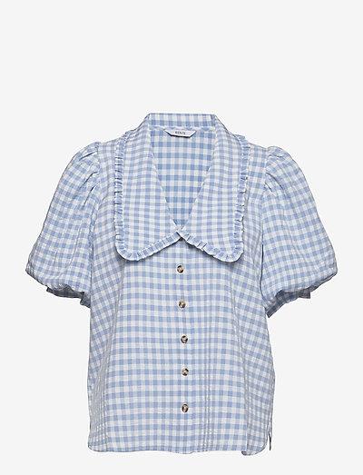 ENAPRIL SHIRT 6842 - kortermede skjorter - sky blue check