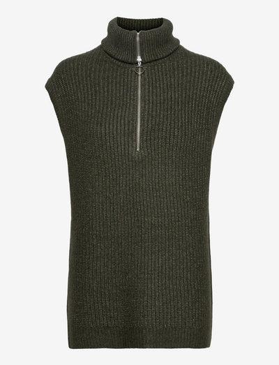EN EDITH VEST 5252 - knitted vests - thyme mel