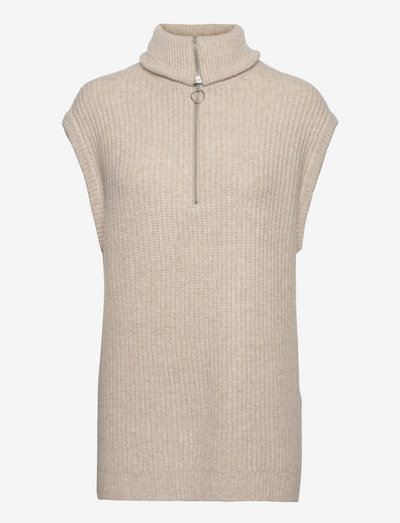 EN EDITH VEST 5252 - knitted vests - warm beige mel