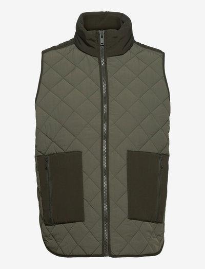 EN SOLANGE WAISTCOAT 6729 - puffer vests - thyme
