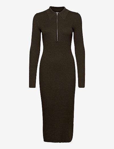 EN AGATHE DRESS 5253 - bodycon dresses - slate black