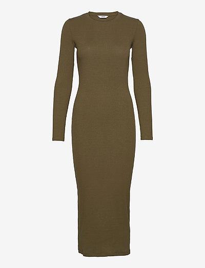 ENALLY LS DRESS 5314 - summer dresses - dark olive