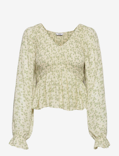 EN ERICA TOP AOP 6882 - long sleeved blouses - bryony bloom
